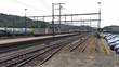 A railway station in Switzerland in a small town. Rheinfelden train Station. 4K.