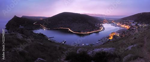 Poster Pays d Asie Balaklava black sea cost sea view night panorama
