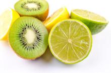 Sliced Fruit Isolated