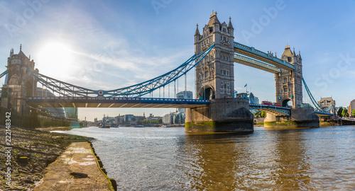 London Tower Bridge panoramic view Canvas Print