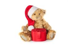 Christmas Teddy Bear With A Ha...