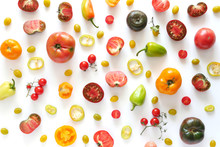 Pattern Composition From Vegetables, Top View.