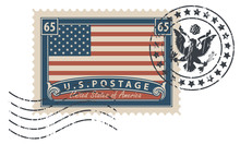 Postage Stamp With Inscription...