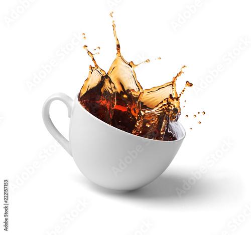 Fototapeta a cup of coffee, tea, splashes obraz