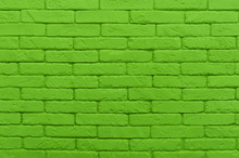 Green Brick Wall Painted At Sa...