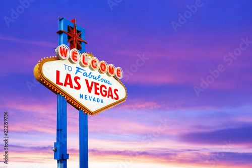 Spoed Foto op Canvas Amerikaanse Plekken Welcome to Las Vegas Sign