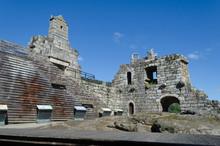 Restos Del Palacio Del Castillo De Ribadavia, Ourense, Galicia, España.