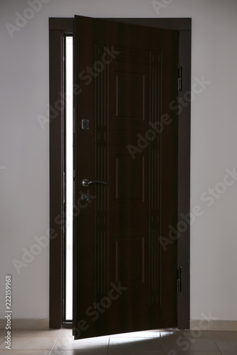 Photo View of ajar wooden door