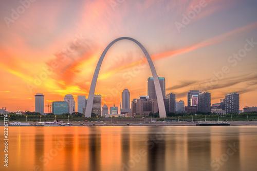 St. Louis, Missouri, USA Skyline Wallpaper Mural