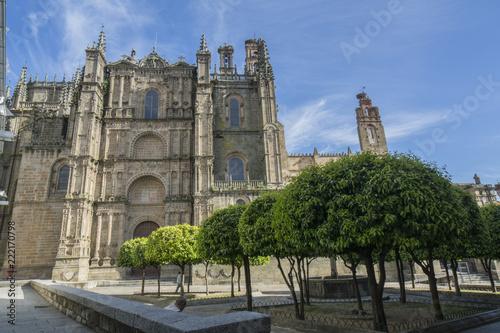 Fachada de la catedral de Plasencia, en la provincia de Caceres, España