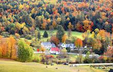View Of Rural Vermont In Autum...
