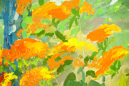 Cuadros en Lienzo Artists oil paints multicolored closeup abstract background