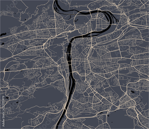 Cuadros en Lienzo map of the city of Prague, Czech Republic