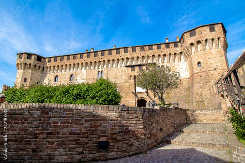 Tuinposter Kasteel Gradara Castle in Italy