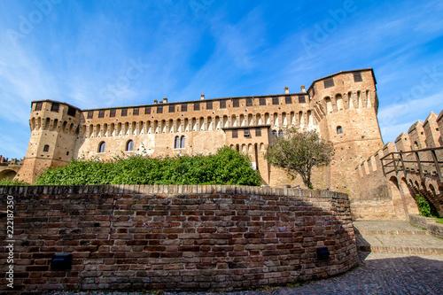 Foto op Aluminium Kasteel Gradara Castle in Italy