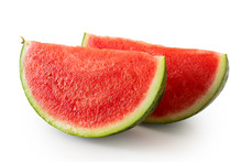 Two Wedges Od Seedless Waterme...