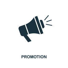 Promotion Icon. Monochrome Style Design From E-commerce Icon Collection. UI. Pixel Perfect Simple Pictogram Promotion Icon. Web Design, Apps, Software, Print Usage.