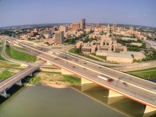 Aerial View Of Dayton, Ohio In...