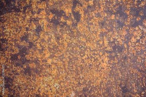 Metal rusty texture. Old grunge wall background.