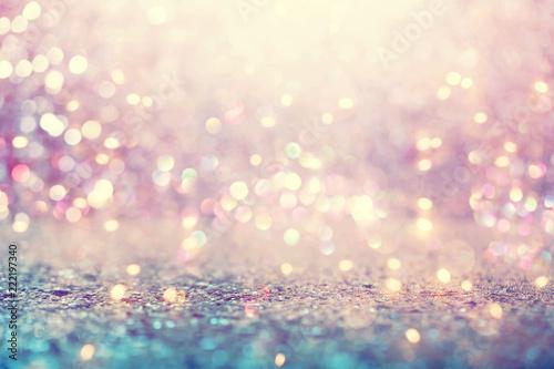 Fotografie, Obraz  Beautiful abstract shiny light and glitter background