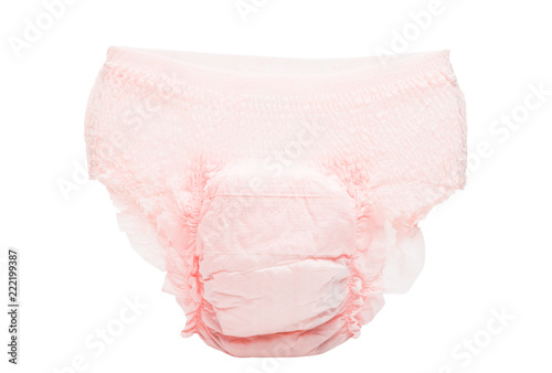 diapers isolated Tableau sur Toile