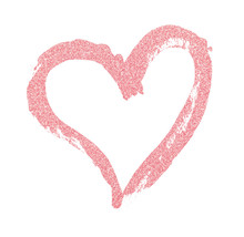 Closup Of Pink Glitter Heart P...