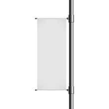 Empty Blank Lamp Post Banner M...