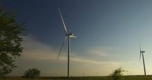 Windmill In A Field In Oklahoma