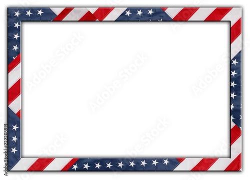 Obraz USA flag frame - fototapety do salonu
