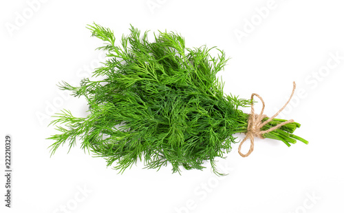 Bouquet of fresh dill bandaged with rope Wallpaper Mural