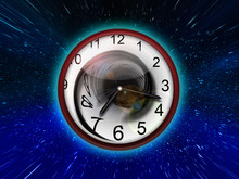 Time Travel. The Clock In Spac...