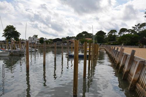 Spoed Foto op Canvas Poort Lège-Cap-Ferret - Port de plaisance - Plage des Hirondelles