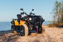 Quad Bike ATV, Blue Sea Backgr...