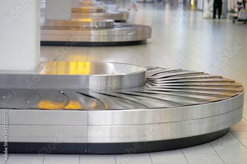 Empty airport baggage belt Canvas Print