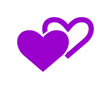 Purple Heart Love Valentine Am...