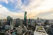 beautiful sunset of the Metropolitan Bangkok City downtown cityscape urban skyline - Cityscape Bangkok city Thailand