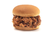 Pulled Pork Sandwich On A Whit...