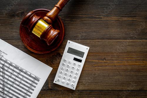 Photo Declare bankruptcy concept