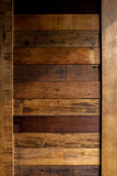 Rustic wooden panel wall background with shade