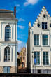 Houses representative of the traditional architecture of the historical Bruges town