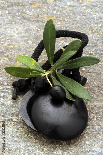 Tuinposter Aromatische Aceite de oliva Olio di oliva Azeite ft314894 Castañuelas Nacchere Castanhola