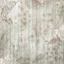 Boho Chic Fall Wood Background With Flowers And Feathers