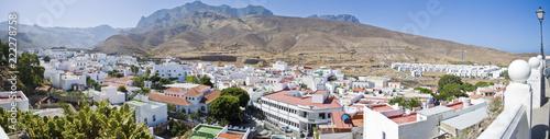 Foto auf AluDibond Dunkelgrau Panoramica Agaete