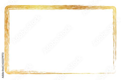 Fotografie, Obraz  golden rectangle crayon frame