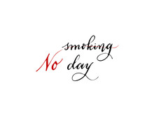 World No Tobacco Day, Vector Illustration, Flat Silhouette, Banner Concept, Poster Template, Black, White, Heart Rhythm, Cigarette, Cardiogram