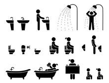 Restroom Signs Illustration. S...