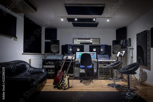 Photo Recording Studio Control Room (no engineer)