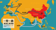 One Belt One Road. New Chinese...
