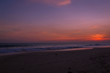 Landscape of sunset on the beach