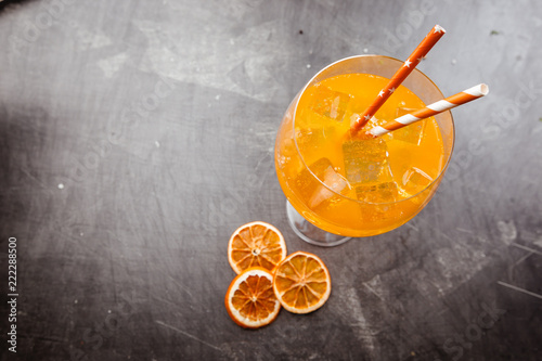 Spoed Foto op Canvas Cocktail Glass of aperol soda cocktail